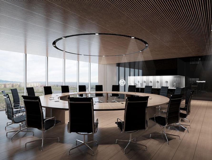 Estudio alvarez sala oficinas del real madrid for Oficinas envialia madrid