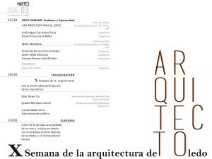 programa X Semana de la arquitectura Toledo